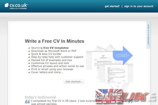 write a cv in minutes
