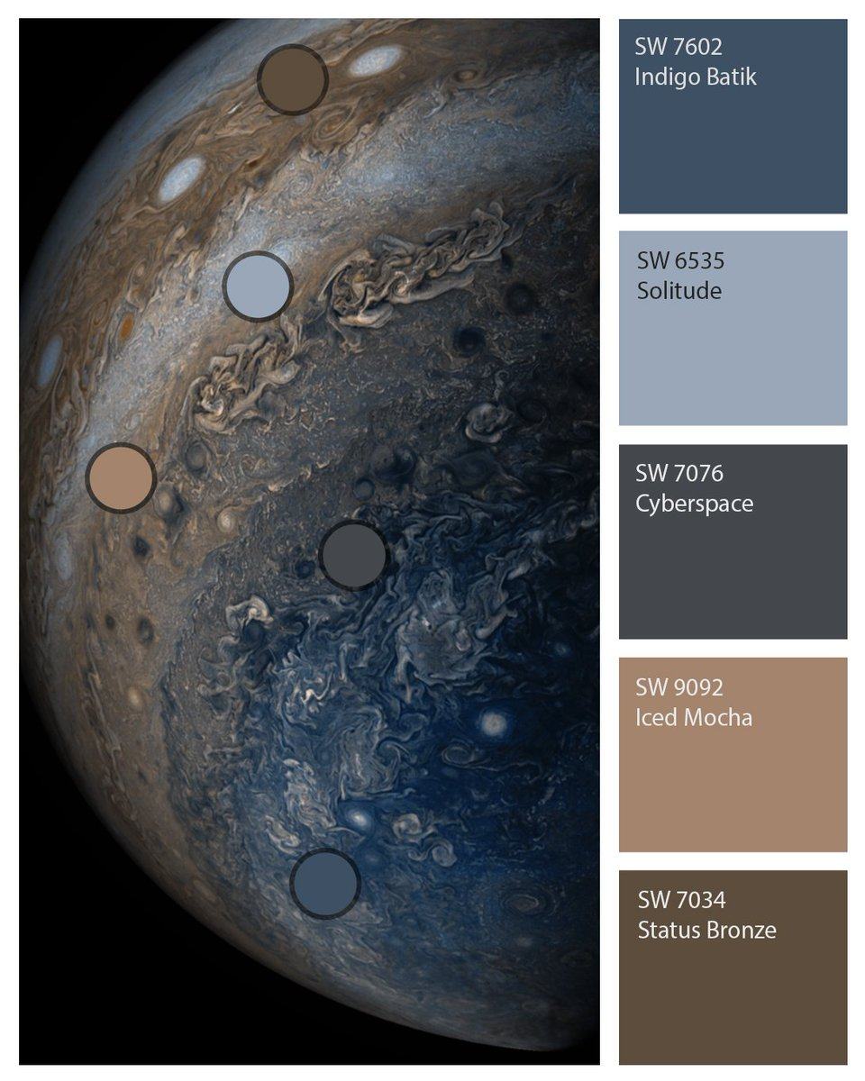 Sherwin Williams On Twitter If You Run Out Of Earthly Inspiration You Can Always Turn To The Stars Indigo Batik Sw 7602 Solitude Sw 6535 Cyberspace Sw 7076 Iced Mocha Sw 9092
