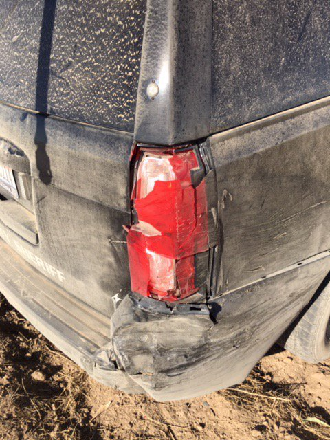 "Ada County Sheriff on Twitter: ""The ACSO deputy whose patrol vehicle was hit by the stolen truck was not injured, but the Tahoe did sustain some damage.… ..."
