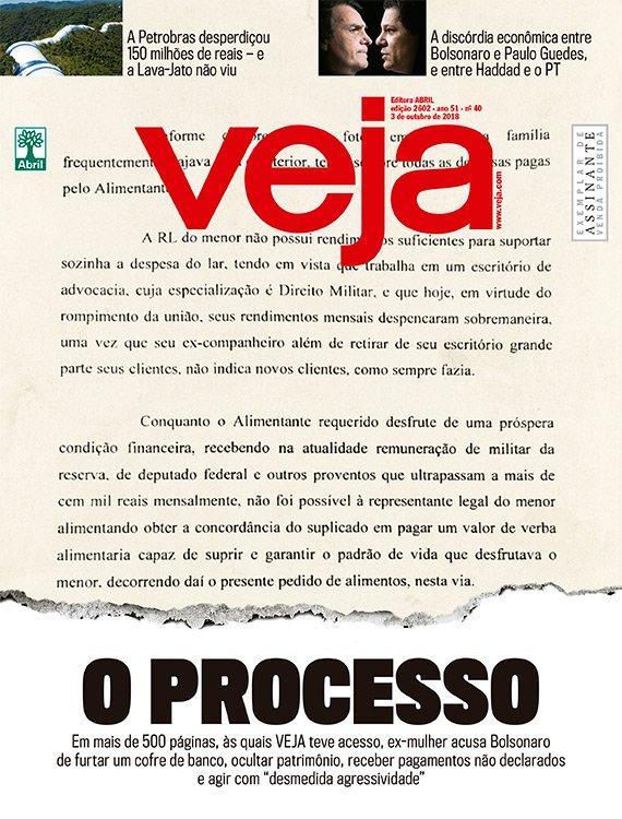 EXCLUSIVO: Em um processo de mais de 500 páginas, às quais VEJA teve acesso, ex-mulher acusa Bolsonaro de furtar cofre, ocultar patrimônio, receber pagamentos não declarados e agir com 'desmedida agressividade' https://t.co/uXucyO59Zz