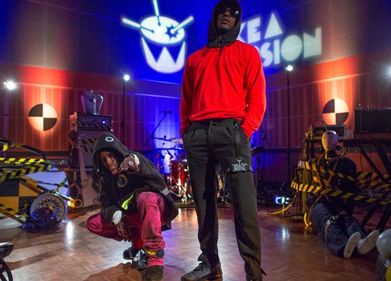 A$AP Rocky and Skepta perform 'Praise The Lord (Da Shine)' on @triplej: https://t.co/eCSnZfMABu  https://t.co/2V7DjBDU0Y