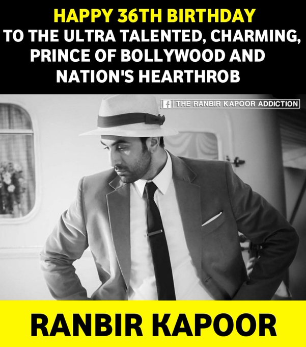May You Achieve ×36 Times More Success, Fame & Name!  HAPPY BIRTHDAY RANBIR KAPOOR