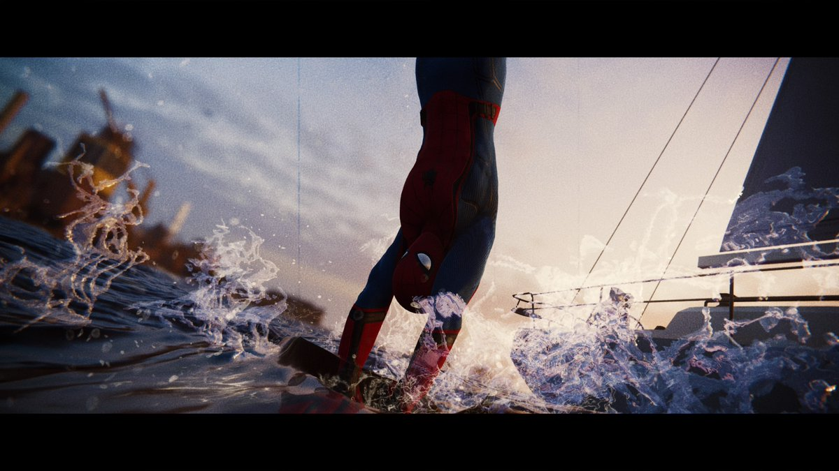 Takin' a dip with the boat people. #SpiderManPS4