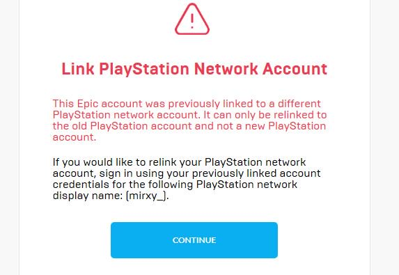 Fortnite On Twitter It Looks As If You Un Linked Your Psn Id