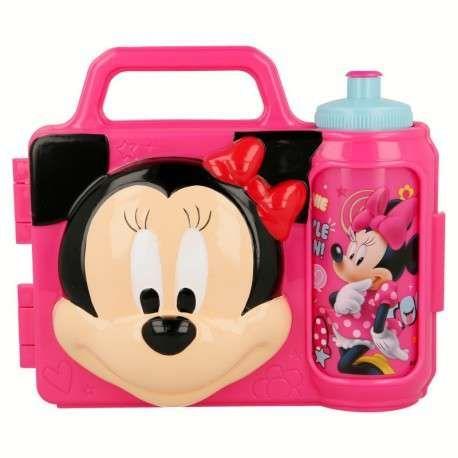 fa8b3e3a07fd2 Zestaw śniadaniowy dla dziewczynki 3D: pojemnik i bidon Myszka Minnie 😍 Z  całą pewnością pomieści
