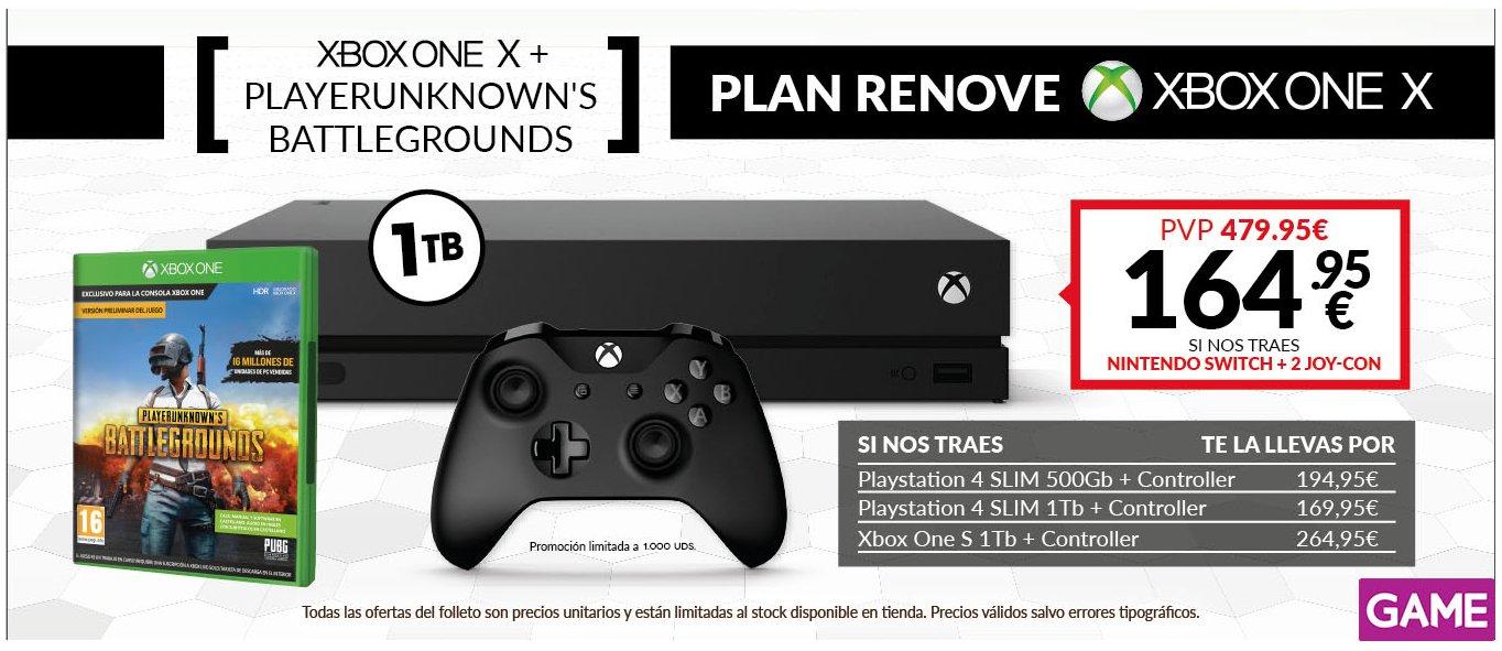 Nuevo plan renove de GAME para Xbox One X 2