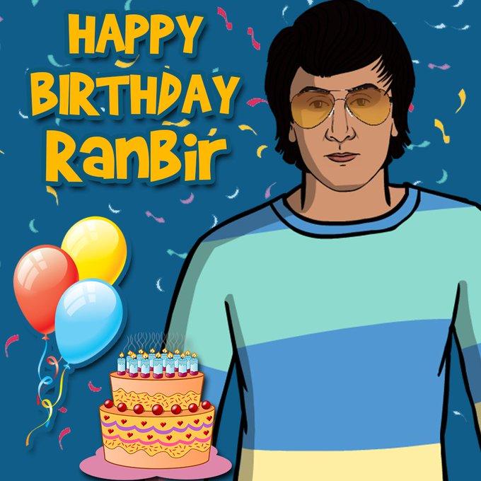 Happy birthday to the Ranbir Kapoor.