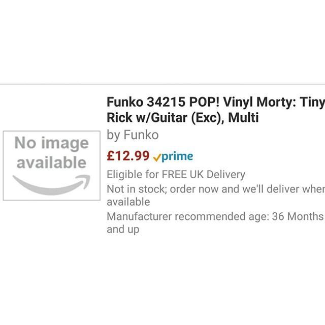 Tiny Rick w//Guitar Exc Morty Multi Funko 34215 POP Vinyl Rick /& Morty