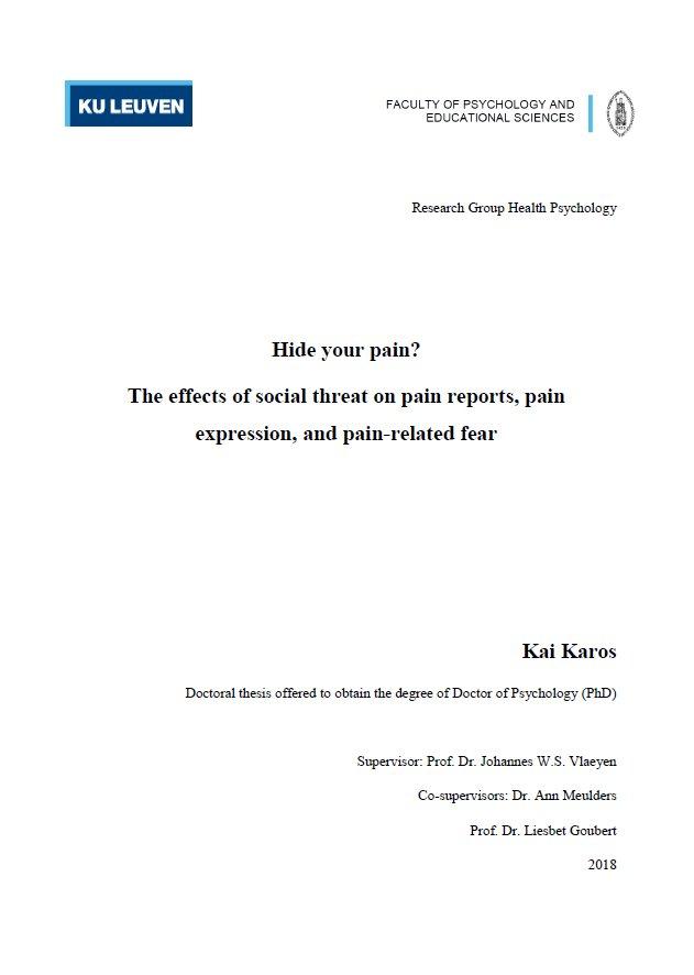 thesis kuleuven ppw