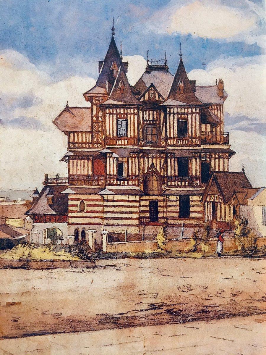 "Daniel Balmaceda on Twitter: ""Villa Ortiz Basualdo, Mar del Plata. Acuarela  de la artista Léonie Mathiss (1883-1952).… """
