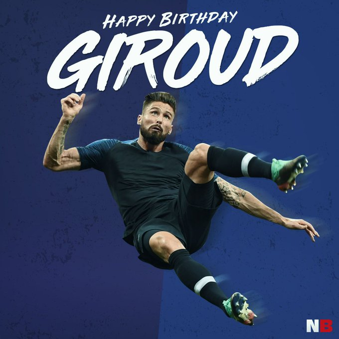 Happy Birthday Olivier Giroud!  Ligue 1   FA Cup World Cup