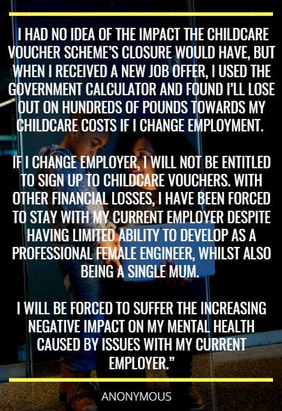 Childcare vouchers.