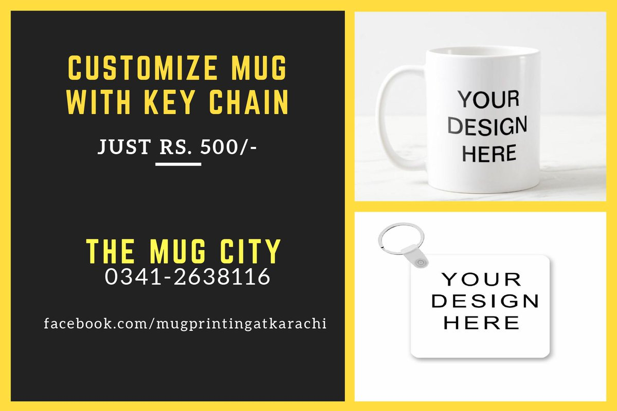 2 IN 1 DEAL CUSTOMIZE MUG WITH KEY CHAIN JUST RS. 500/- Best Price | High Quality Printing | Nationwide Delivery Call/WhatsApp for Order : 0341-2638116 #themugcity #3IN1DEAL #tshirtprinting #mugprinting #daraz #hot #mugprintingkarachi #keychainprinting #customizeprinting #dealpic.twitter.com/HnNCGDMZkn