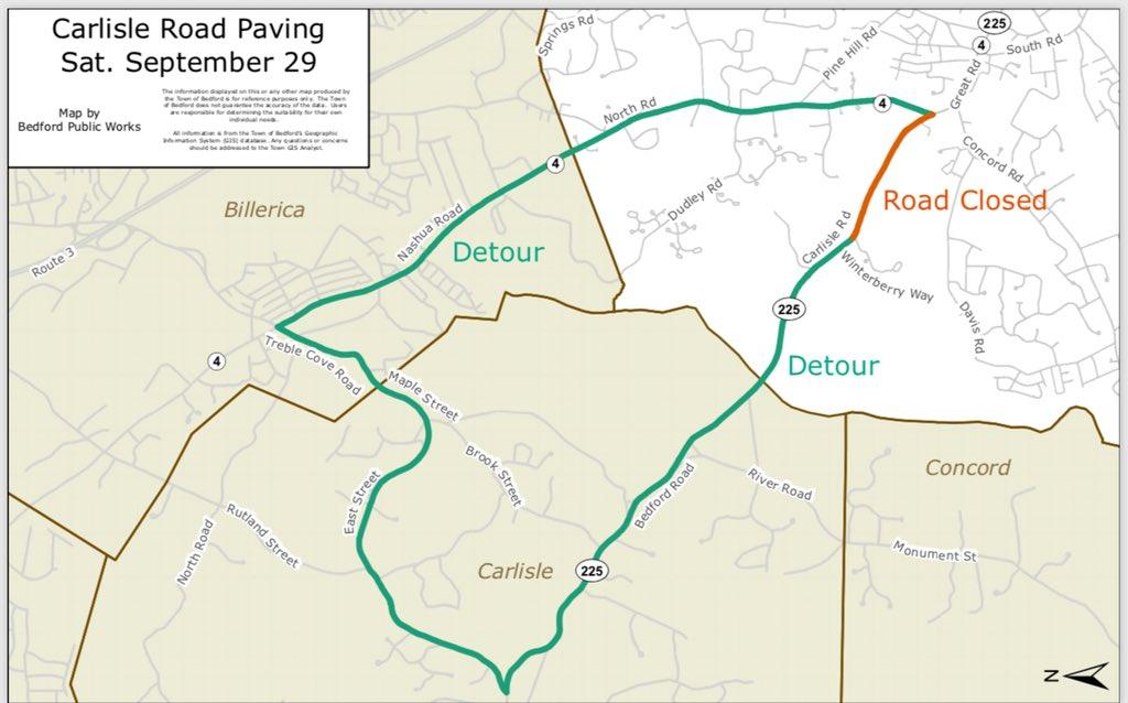 bedford ma map