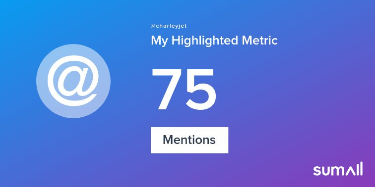 My week on Twitter 🎉: 75 Mentions. See yours with https://t.co/z0OiOqAO9u https://t.co/n4ycI2h4kl
