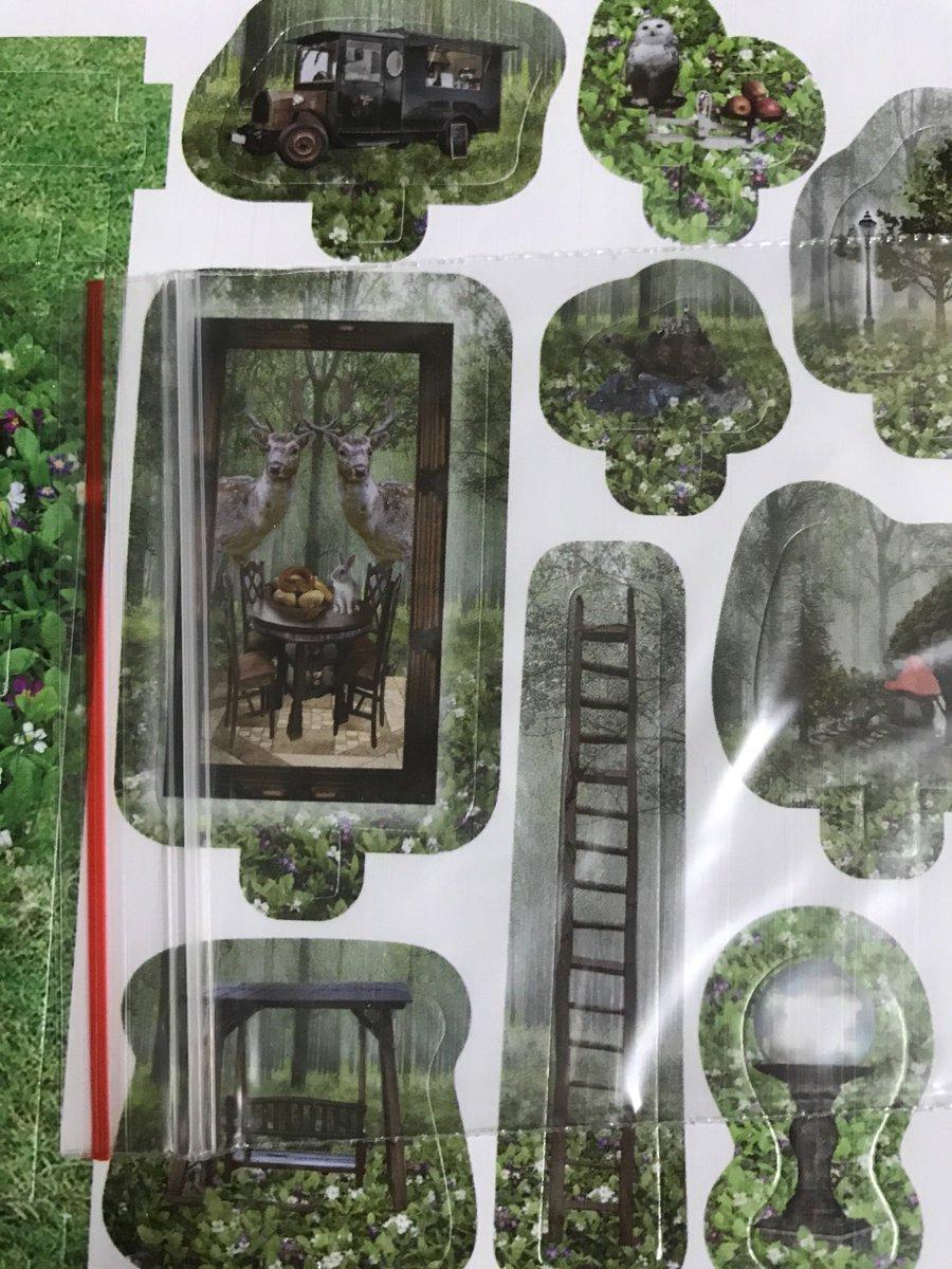 test ツイッターメディア - セリアの箱庭 ほんとに植物園の方、シールがすごいから、オフィーリアごっこが出来そうなので、外見がもったいない! 鳥かごと合わせるとプランツドールごっこが出来そう! #セリア #箱庭 #ドールハウス https://t.co/RALXklBFSA