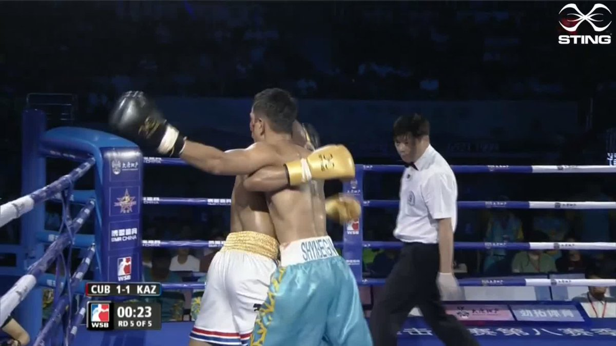 Despite @astana_arlans Aslanbek Shymbergenov dominating the last couple of rounds, Roniel Iglesias gets the win for the @DomadoresCuba. They lead 2-1 on the night and 5-3 overall.  #WSB8 #Boxing https://t.co/Y8KwigMFuH