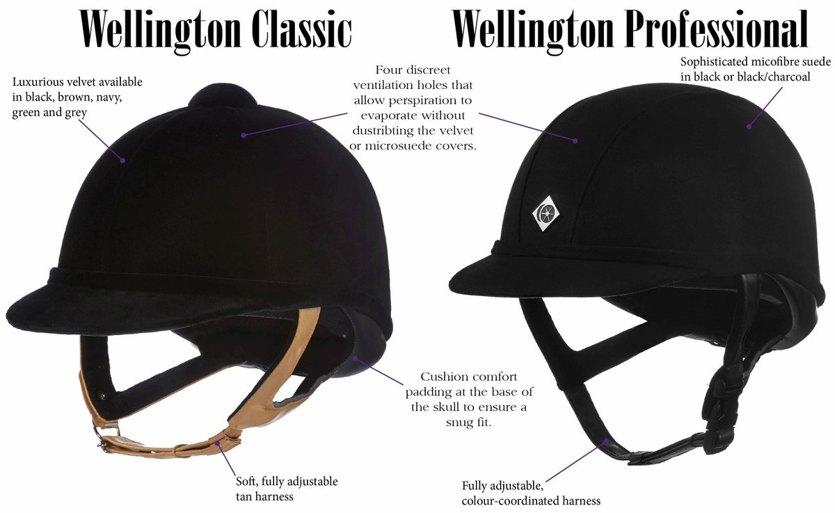 Charles Owen Wellington Classic Velvet Horse Riding Hat Helmet Ventilated