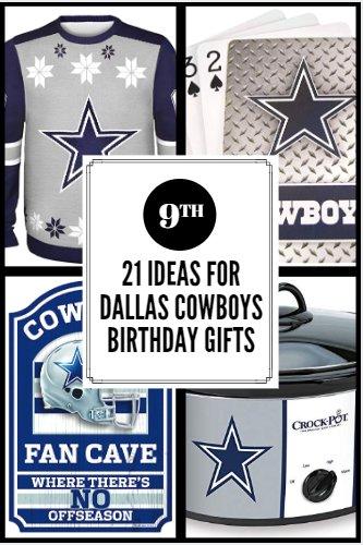 """Check out these 21 birthday gift ideas for that special someone in your life who is a fan of """"America's Team"""" the Dallas Cowboys! ..."""