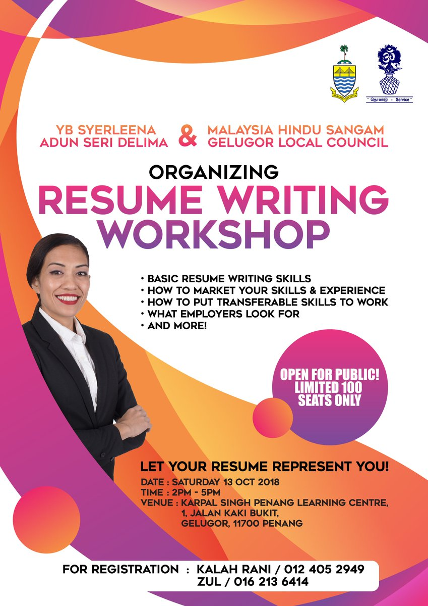 Syerleena Abdul Rashid On Twitter Having A Hard Time Writing A Resume For A Job Interview This Is Your Chance To Achieve Your Dream Job Come Join The Resume Writing Workshop Organized
