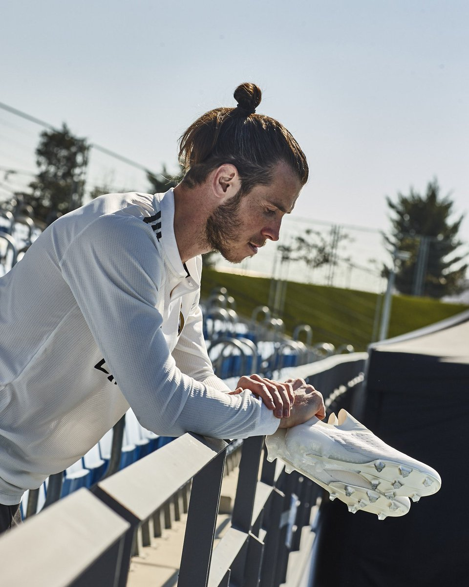 Full focus on el derbi madrileño at the Bernabeu. Let's bring it on! 👟💪 #X18 #HalaMadrid #HereToCreate