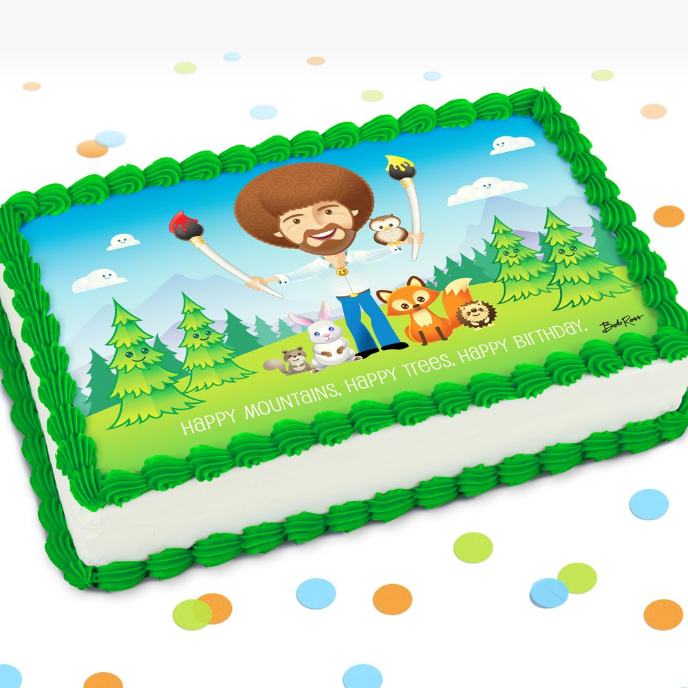 Bob Ross Official On Twitter Happy Trees Happy Mountains Happy Birthday Bob Ross And Friends Happy Little Party Is The Perfect Party For All Ages Check Out Prime Party S New Tabletop Cardboard