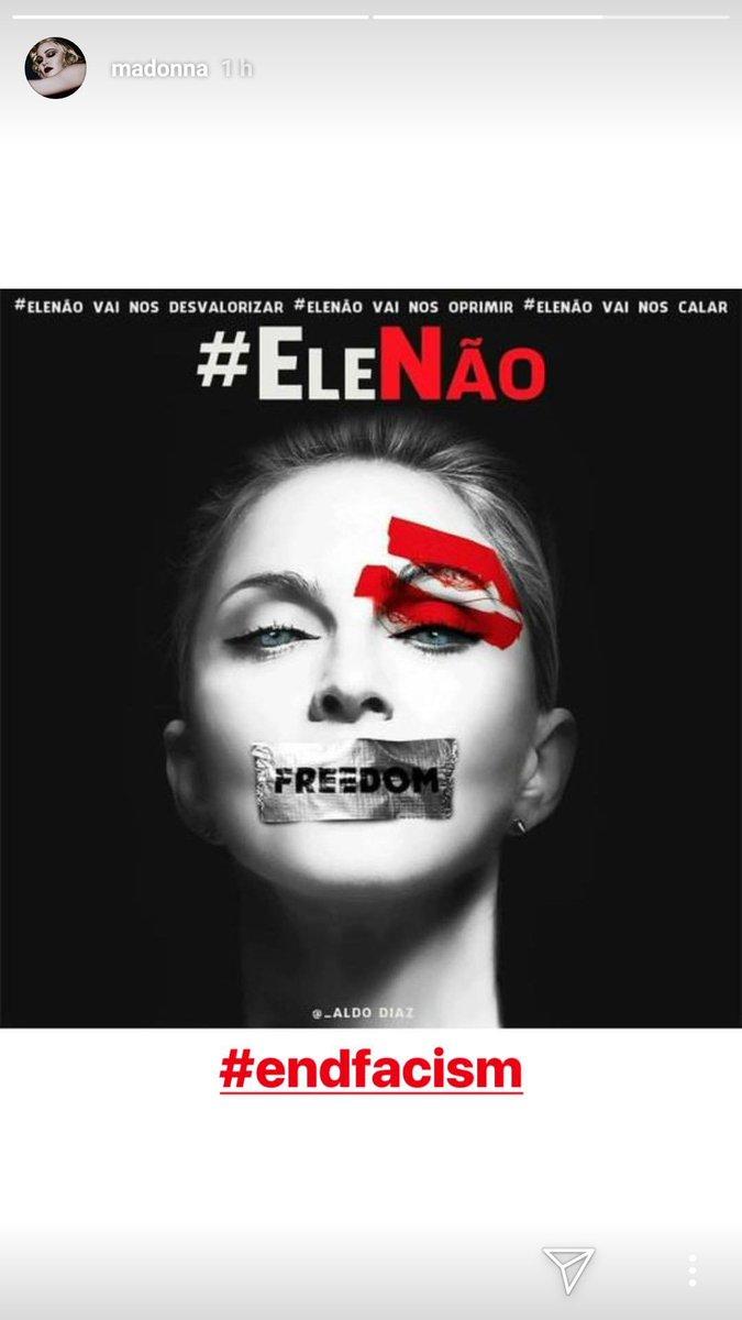 Madonna aderindo ao #EleNao e o fim do fascismo. Que orgulho!