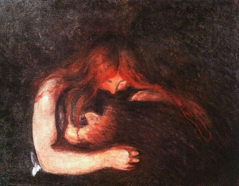Vampire #munch #expressionism
