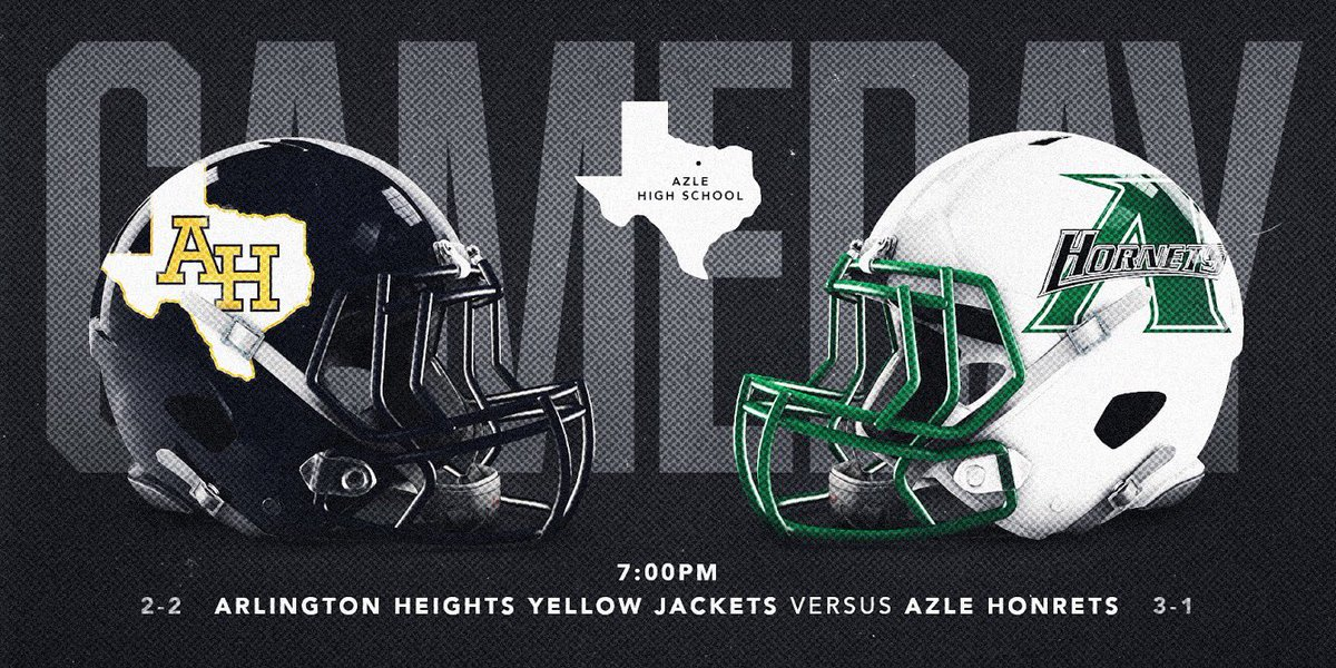 It's #GAMEDAY vs Azle HS! Game time is set for 7:00PM at Azle HS. Come Support #HeightsFottball! 📸: @nickhenningefx