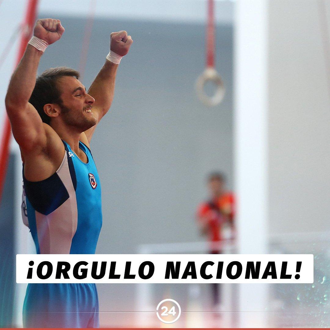 ¡Un orgullo para todo el país! La Federación Internacional de Gimnasia reconoció el salto mortal triple con giro y medio de Tomás González, por lo que a partir de hoy llevará su nombre. ¡Felicitaciones! 👏🏻👏🏻💪🏼