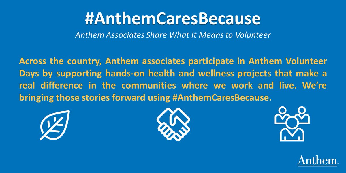 Anthem, Inc  on Twitter: