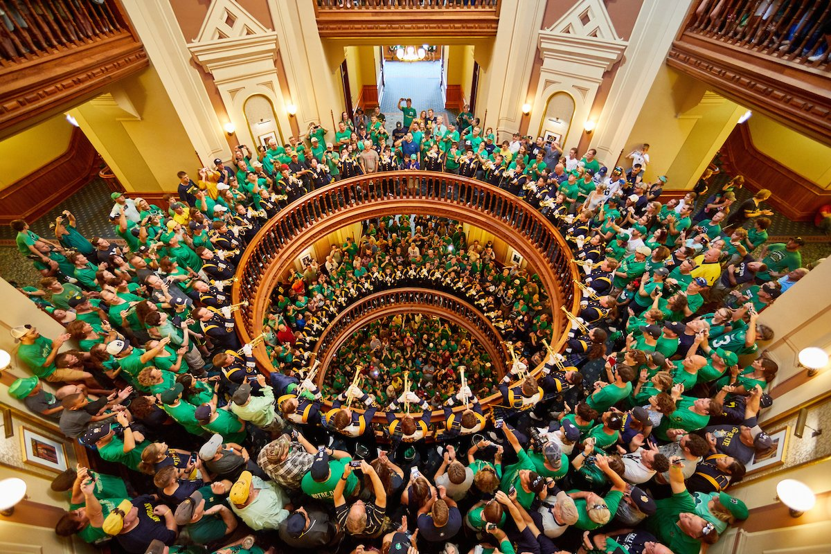 notre dame trumpets under the dome