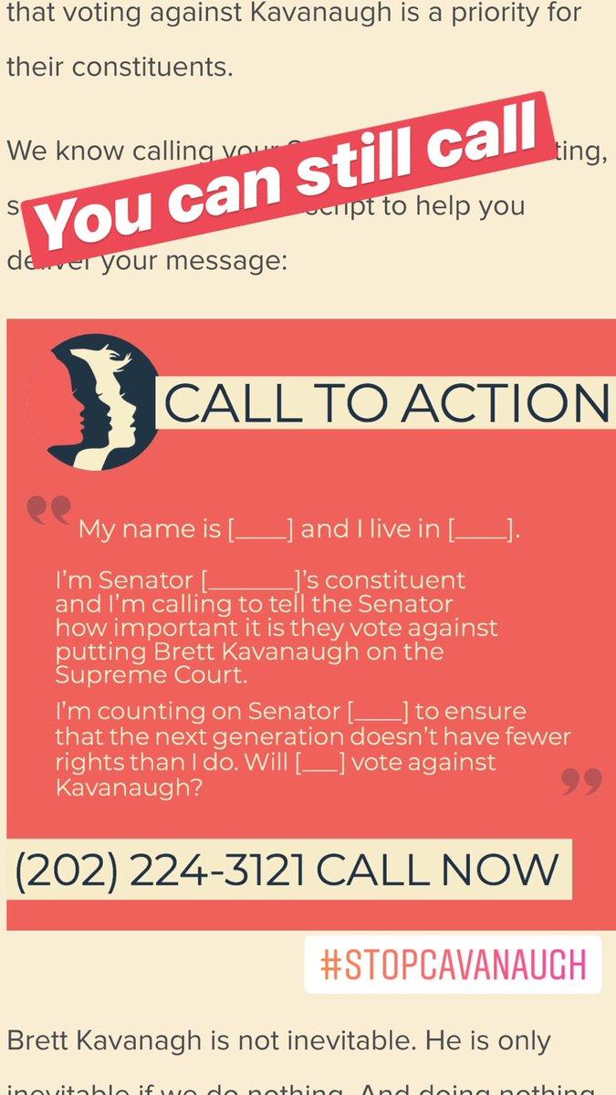 You can do something... CALL  #StopKanavaugh