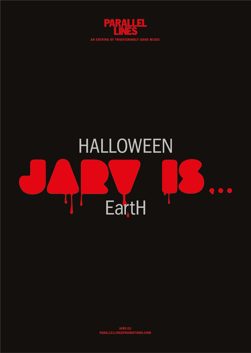 """earth on twitter: """"jarv is… playing live in london on halloween"""