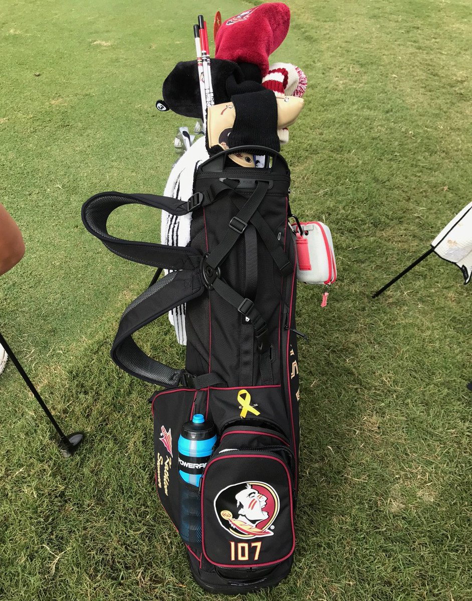 Fsu Golf On Twitter Each Of The Golfers In Schooner18 Is Playing Tournament With A Yellow Ribbon Their Bags To Honor Celia