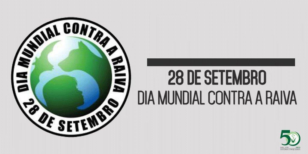 """CFMV on Twitter: """"💉🐕#DiaMundialContraaRaiva #Vacinação #28deSetembro Em  28 de setembro, data em que se comemora o Dia Mundial Contra a Raiva, o  Conselho Federal de Medicina Veterinária (CFMV) destaca o importante papel"""