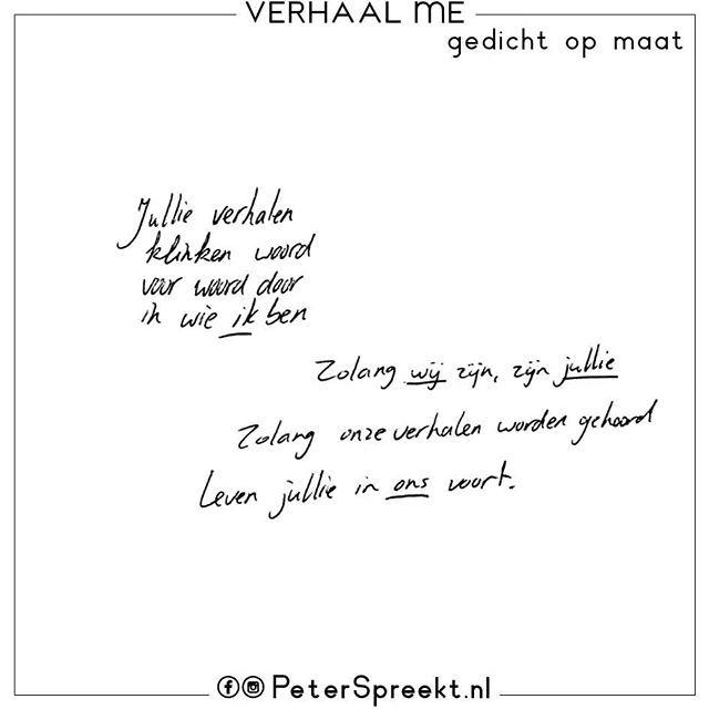 Peter Spreekt On Twitter Een Gedicht Op Maat Na Een