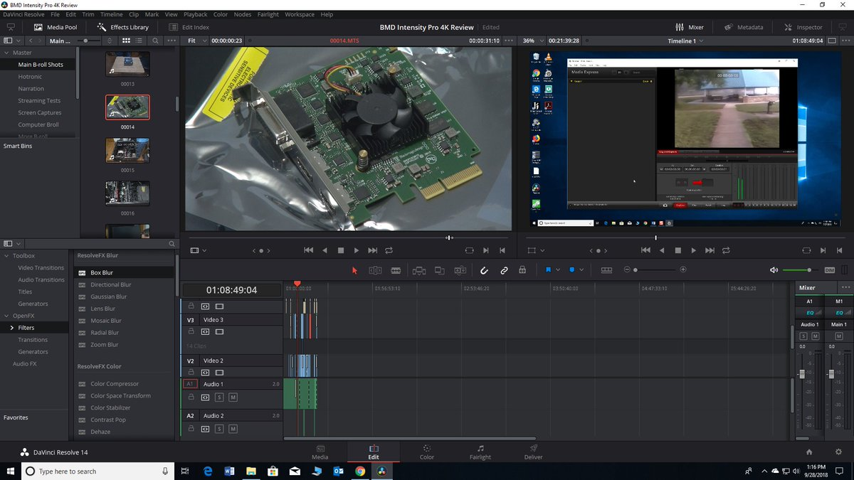 Jacob Pio On Twitter This Is My Latest Video Project It S A Review For The Blackmagic Design Intensity Pro 4k Capture Card Hoping To Be Able To Use It For Future Vhs