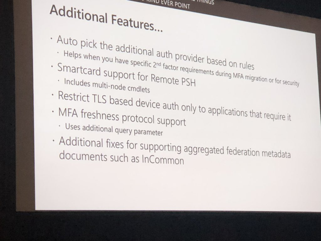 Other #ADFS stuff in 2019  #msiginte Tweet added by Peter Selch Dahl