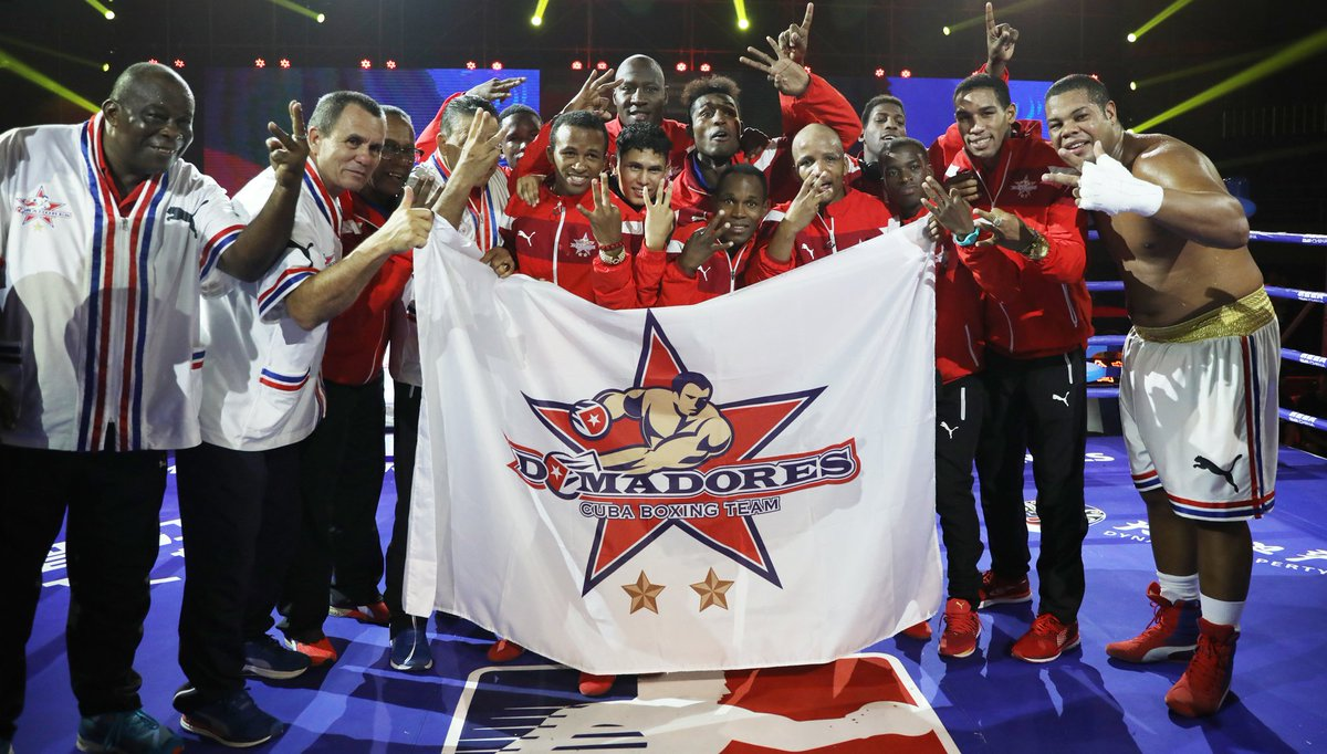 Ladies & gentlemen, please welcome the WSB Season VIII @DomadoresCuba  💪🇨🇺🏆🇨🇺👌 #WSBFinals8 #WSBTrophy https://t.co/WmQhxGdW3G