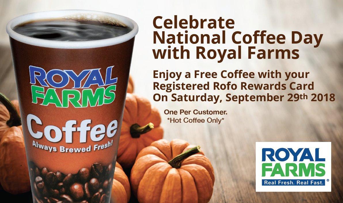 Royal Farms On Twitter Free Coffee Free Coffee Free Coffee
