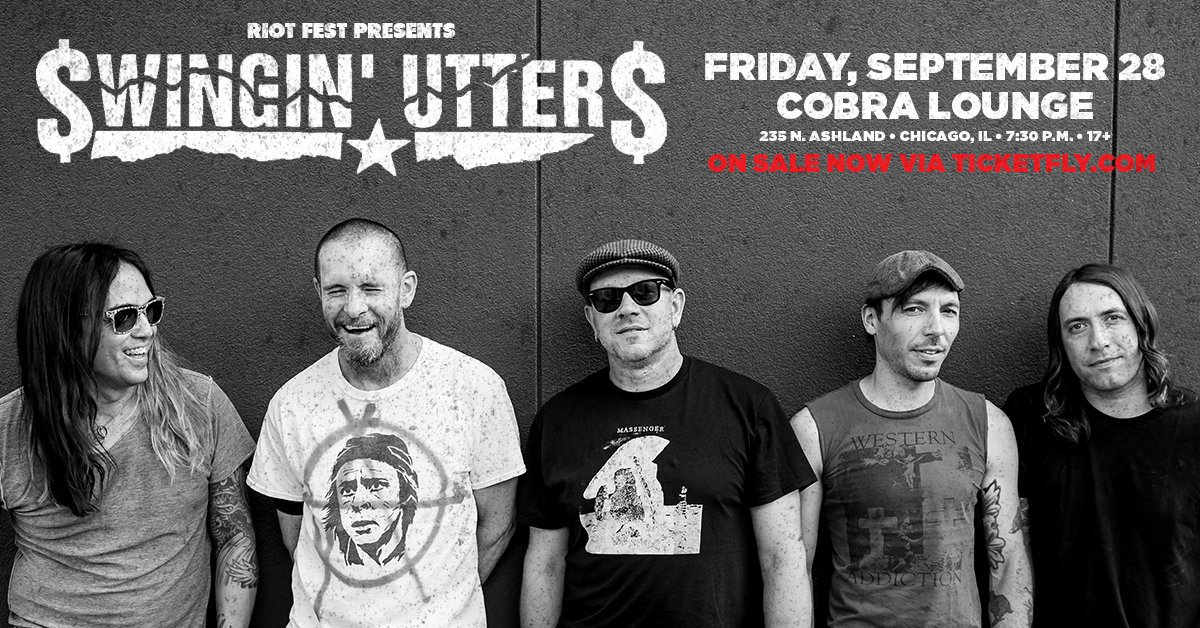 TONIGHT! @swingin_utters at @CobraLounge -- get your tickets now! https://t.co/FKpGswHnkE https://t.co/OD8GoK3ofS
