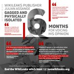 """""""If Mr Assange promises to stop emitting opinions... then we have no problem""""—President of Ecuador @Lenin Moreno.   As of today WikiLeaks publisher @JulianAssange has been illegally gagged and physically isolated for 6 months: https://t.co/VQjvCs07q0 #FreeAssange"""