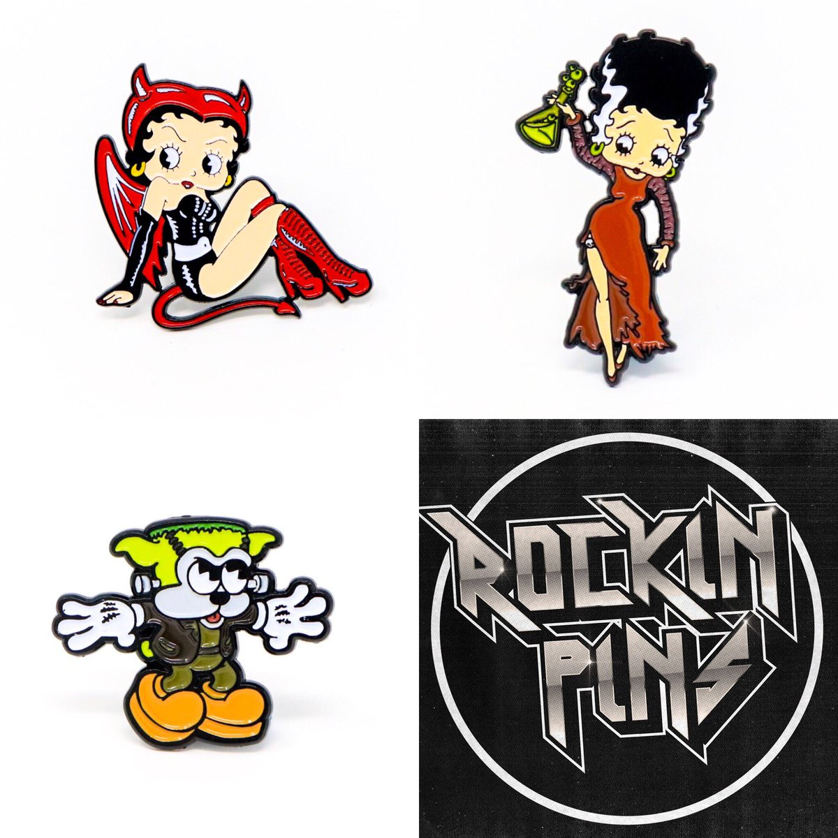 "rockinpins on twitter: ""🎃betty boop halloween pins🎃 https://t.co"