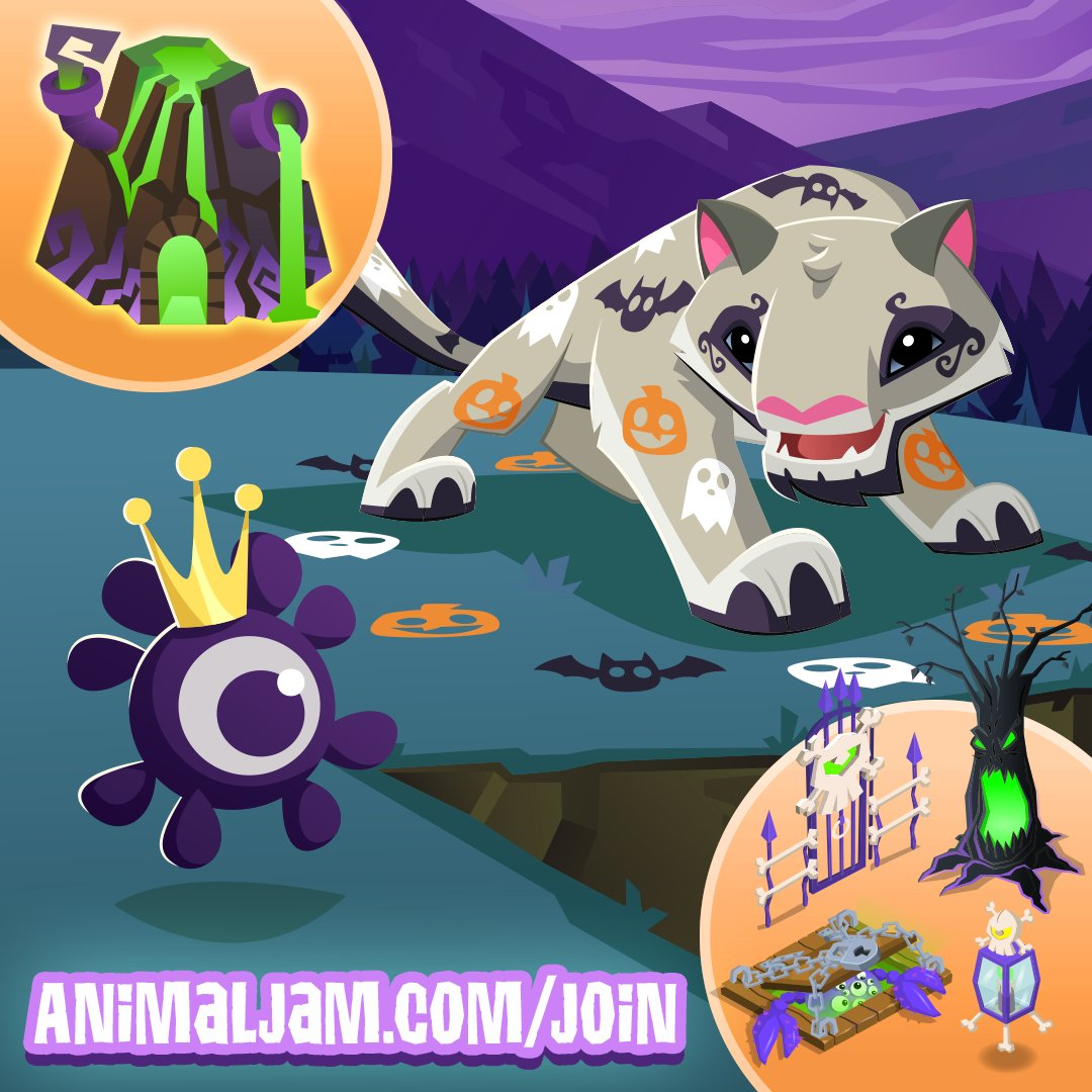 Png The Spooky Snow Leopard Is Available Now With The Haunted Hideout Bundle Available Exclusively At Httpanimaljamcomjoin animaljam playwild Twitter Animal Jam On Twitter