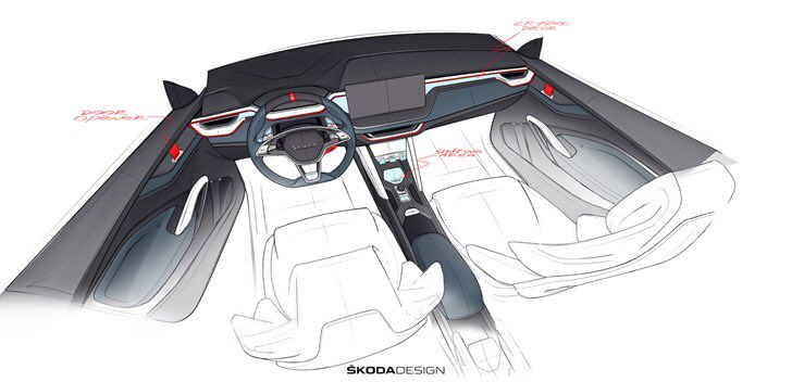 Form Trends On Twitter Skoda Vision Rs Interior Sketches
