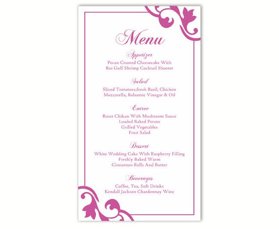 picture about Printable Menu Card known as thedesignsenchanted upon Twitter: \
