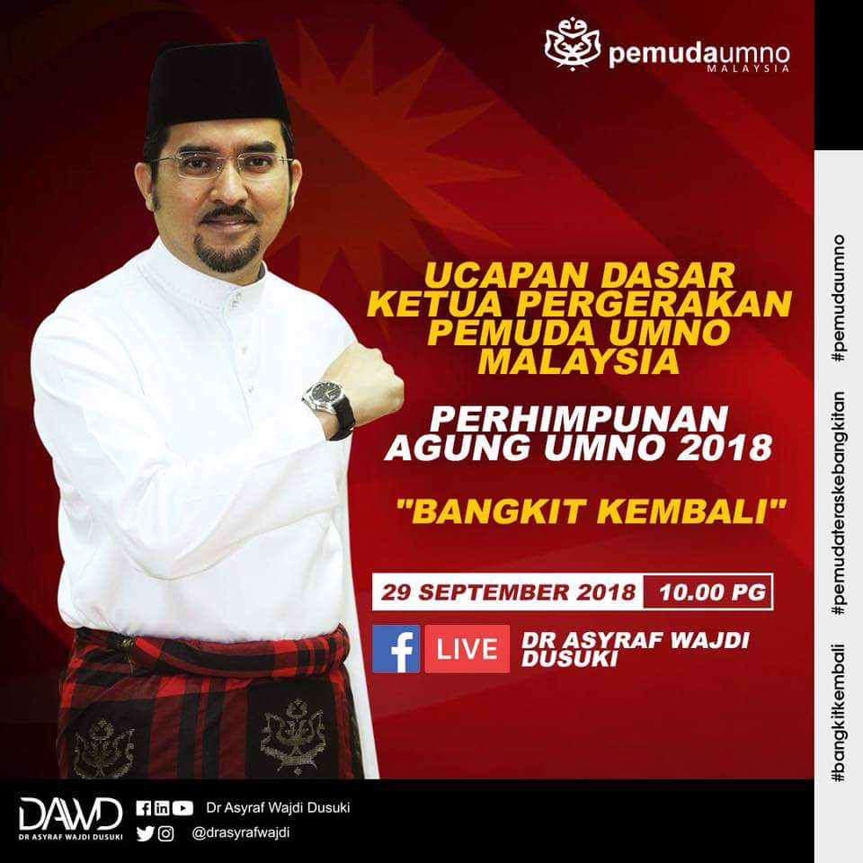 Ucapan Dasar @drasyrafwajdi Ketua Pergerakan Pemuda UMNO Malaysia #PAU2018 #bangkitkembali #pemudateraskebangkitan #pemudaumno https://t.co/YtZpULyH1Q