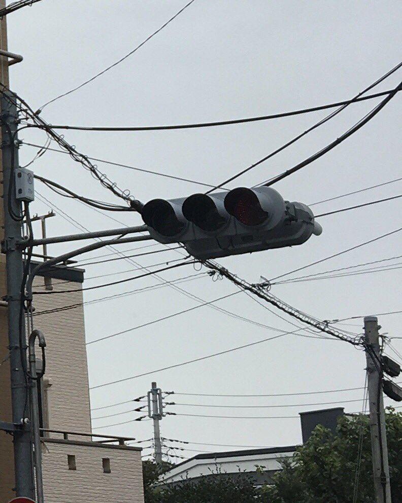 東京都内で停電し信号機が停止している画像