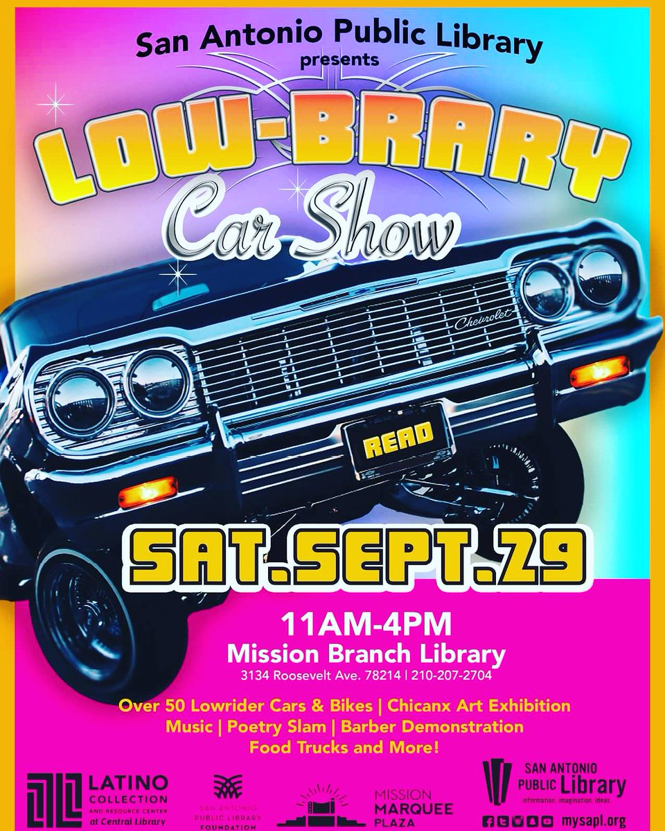Mysapl On Twitter Check Out Our Lowbrary Car Show This Weekend At - Fun car show ideas